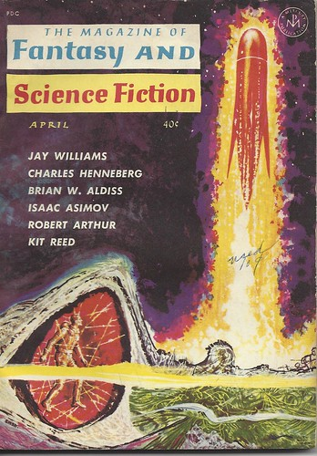 Magazine of Fantasy and SF - December 1967 - cover by Ed Emsh