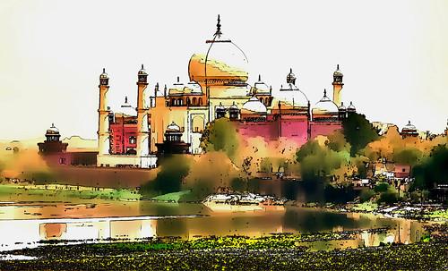 India - Uttar Pradesh - Agra - Taj Mahal - 111gg