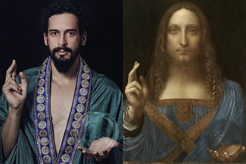 Salvator Mundi - releitura fotográfica da obra de Leonardo da Vinci.