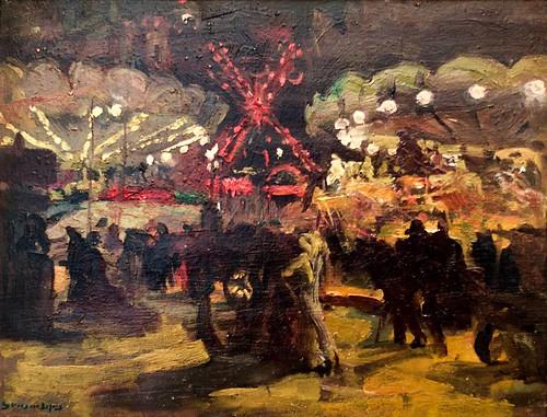 Le Moulin Rouge (Nuit) (1910) - Adriano de Sousa Lopes (1879 - 1944)