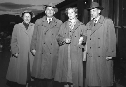 De første gjester fra vennskapsbyen Split ankommer Trondheim (1957)