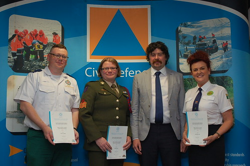 Shane LaComber NAS, Francis Wade Defence Forces, Ger Murphy Civil Defence College & Anne Marie Lynch Kerry Civil Defence