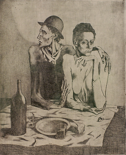 Pablo Picasso, Das karge Mahl - The frugal repast – Le repas frugal