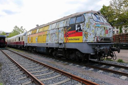 DB 218 212-9 Sonderzug nach Pankow, Amorbach Erlebnisbahnhof