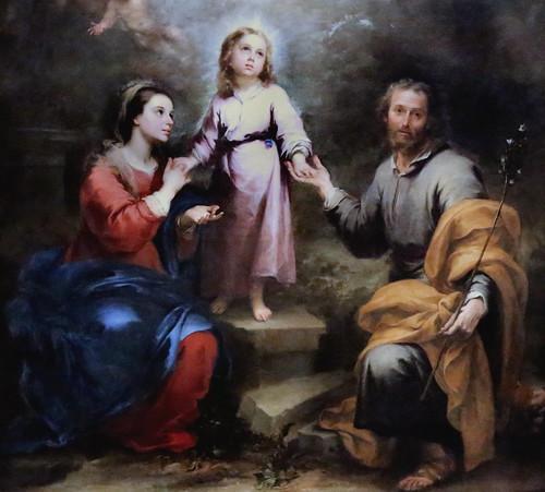 IMG_7964C Bartolome Esteban Murillo 1617-1682. Séville. Les Trinités Célestes et Terrestres The Heavenly and Earthly Trinities. vers 1680.  Londres. National Gallery