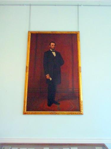 Portrait of Abraham Lincoln in Doric Hall
