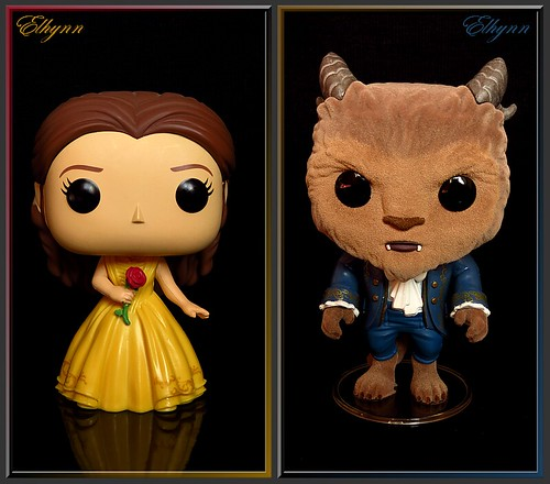 Disney Funko Belle and Beast flocked live action