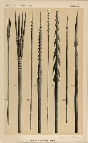 Zuidwest Nieuw-Guinea Expeditie1904-1905 Ethnografica Plaat V