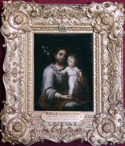 IMG_8601A Bartolome Esteban Murillo 1618 1682  Séville St Joseph et l'enfant Jésus   St Joseph and the baby Jesus  Chantilly  Musée Condé