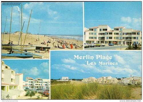 85 St-HILAIRE DE RIEZ MERLIN PLAGE ,, Le balnéaire en cartes postales autour de la collection de David Liaudet, de jolie textes..