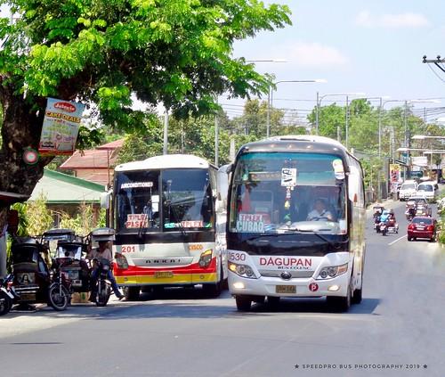 Before the Holy Week rush (Dagupan Bus Co. Inc. #1530 & Luzon Cisco Transport Inc. #201)