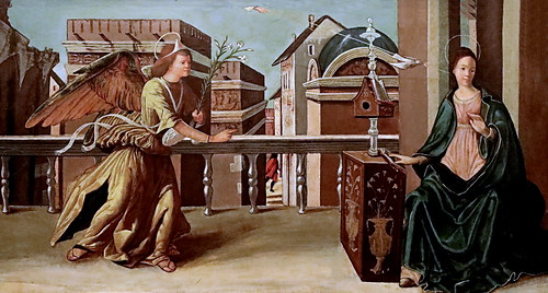 IMG_0563 X Italie vers 1500 The Annonciation  Bonnefantenmuseum.  Maastricht.
