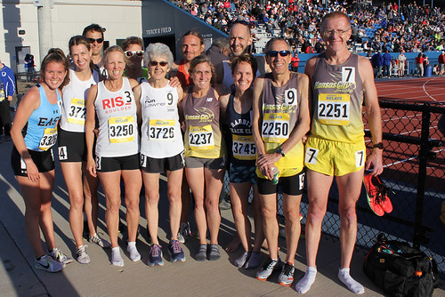 Masters 800 competitors