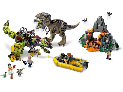 T. rex vs Dino-Mech Battle (75938)