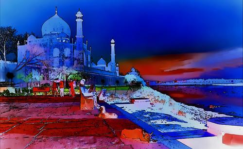 India - Uttar Pradesh - Agra - Taj Mahal - 2pp