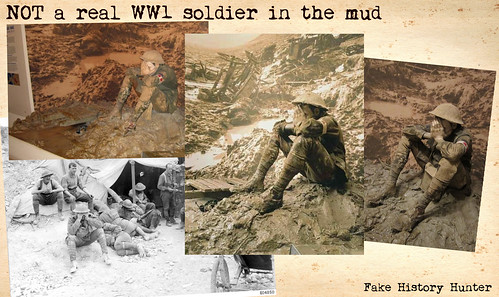 NOT a real WW1 soldier in the mud