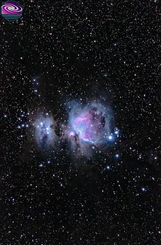 Orion Nebula Wide Field/ Campo amplio Nebulosa de Orión Gran