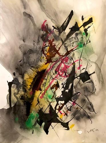 11x15 Rives bfk watercolor. Memories. Memories seep from my veins -Sarah McLachlan
