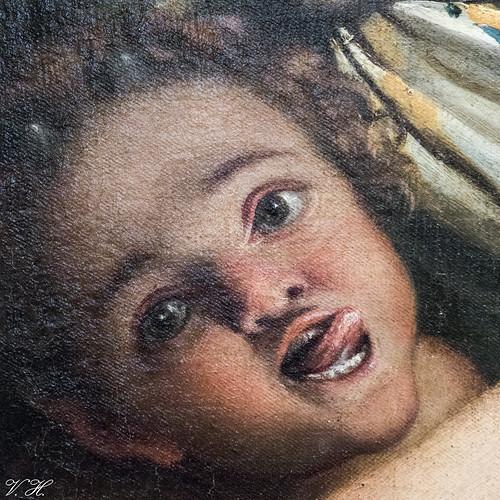 2019/02/24 17h11 Annibale Carracci, «Vénus, un satyre et deux cupidons» (détail) (1587-1588), Galerie des Offices (Florence)