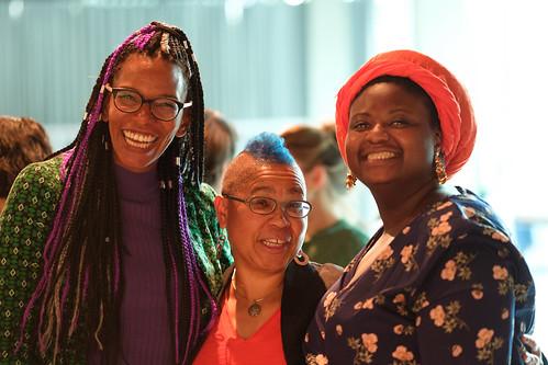 Saraya Gomis, Peggy Piesche und Christelle Gomis (v.l.n.r.)