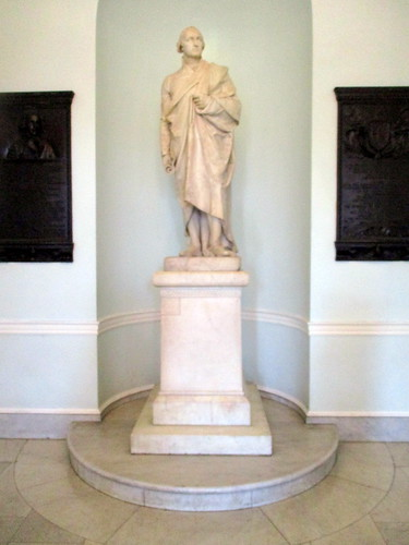 Statue of George Washington with Base in Doric Hall