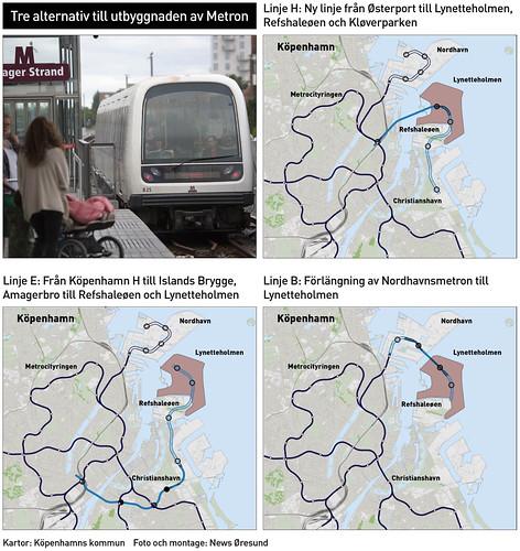 20190517 Karta metroutbyggnad Kopenhamn