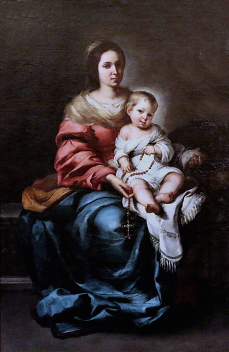 IMG_9326B Bartolome Esteban Murillo. 1618-1682. Séville Vierge à l'Enfant. Dite la Madone du Rosaire.  Virgin and Child. Tell the Madonna of the Rosary. Florence. Palazzo Pitti. Galleria Palatina.