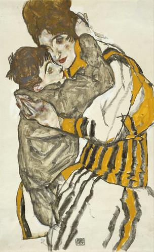 1915_schieles_wife_with_her_little_nephew_2k