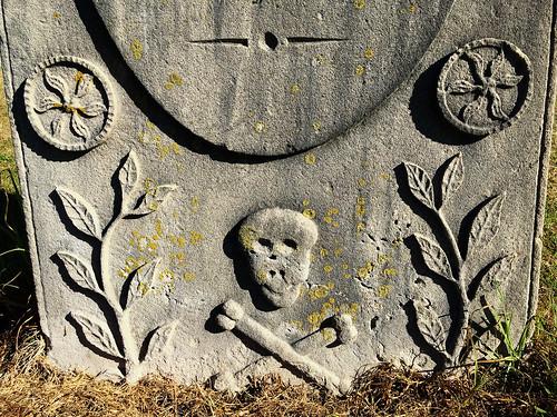 Detail of Samuel Jones' grave, Norfolk Island