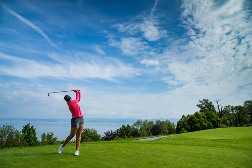 Gabriella Cowley of England during a practice round