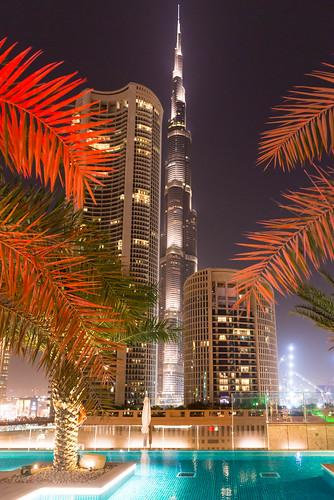 The Burj Khalifa, from the Hotel Sofitel Dubai Downtown