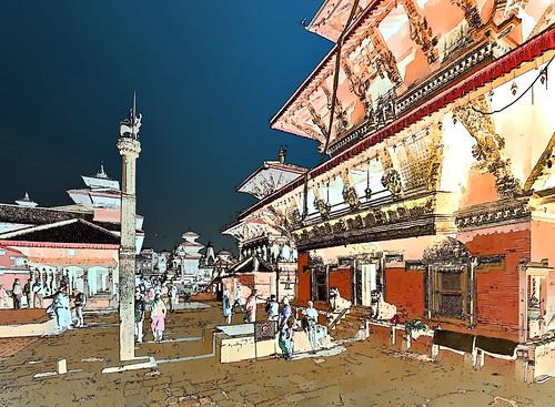 Nepal - Patan - Durbar Square - 22g