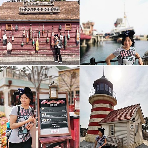 "A taste of New England in Tokyo? Disney Sea has one ""land"" modeled off of America's seaside towns. I was tickled to find ""Cape Cod Confections"" (selling ice caramel milk tea, haha, not salt water taffy 😂), a legit looking lighthouse, and other reminde"