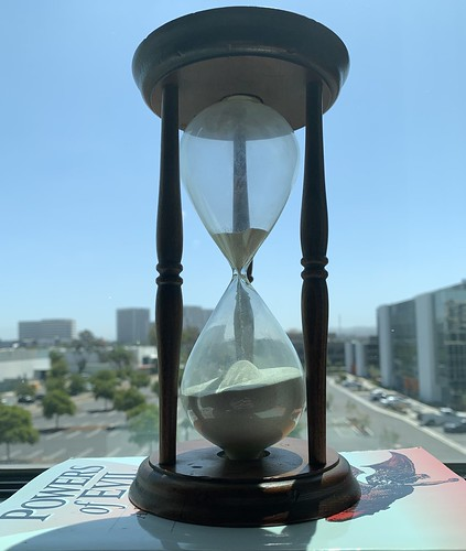 Time is running out... (My latest vintage hourglass)