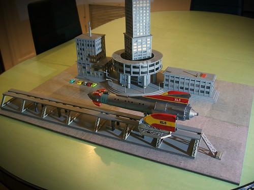 Fireball XL5 Space City diorama