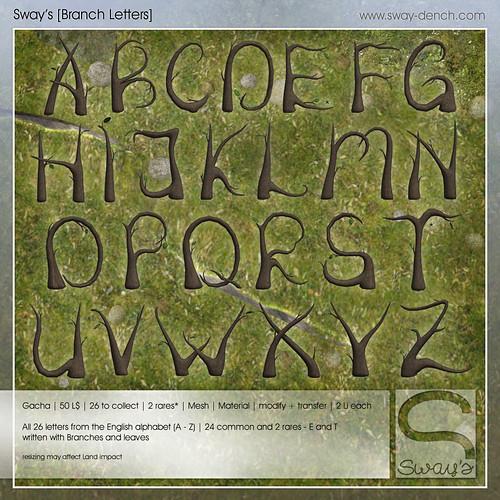Sway's [Branch Letters] Key   Gacha Garden