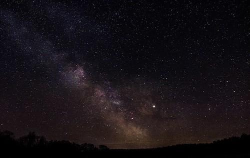 Milchstraße und Jupiter