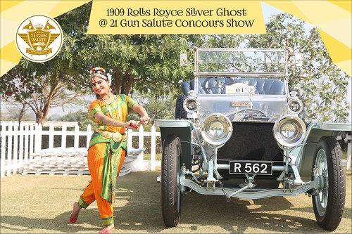 1909 Rolls Royce Silver Ghost at 21 Gun Salute Concours Show, 2018. Ms. Sapna Attawar is gracing the event with her special dance performance.
