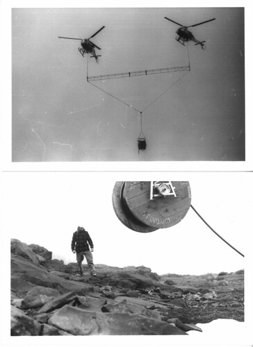 Cable laying by helicopter (1979)
