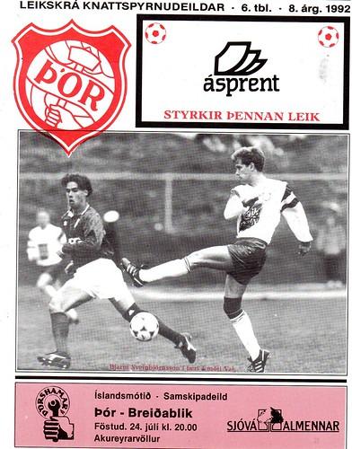 Por Akuryare v Breidablik (Icelandic League) 24.7.92