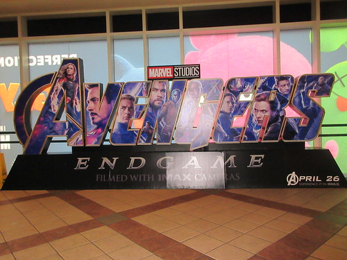 Avengers Endgame Theater Lobby Standee NYC 7935