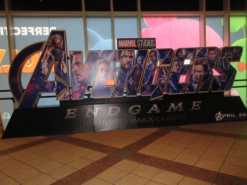 Avengers Endgame Theater Lobby Standee NYC 7937