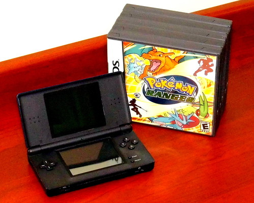 Nintendo DS Lite Handheld Dual-Screen Electronic Game Console, Made In China, Released In North America In 2006, Discontinued In 2011