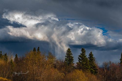 When clouds weep