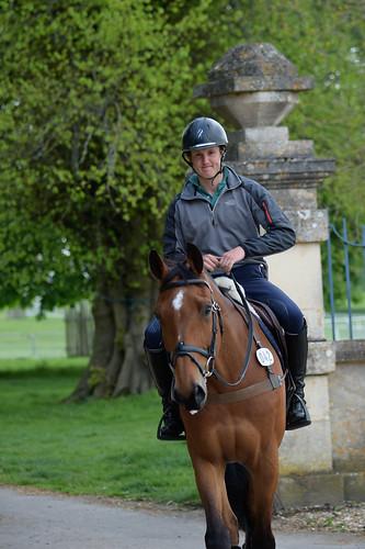 Tom McEwen heads back to the stables on Toledo de Kerser