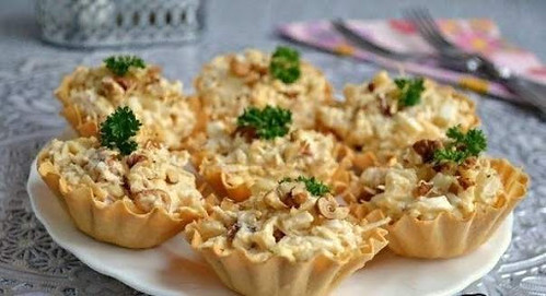 Recette Tartelettes Au poulet et ananas