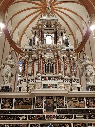 Vicence, Vénétie, Italie: Chiesa di Santa Corona, chapelle principale dans le chœur