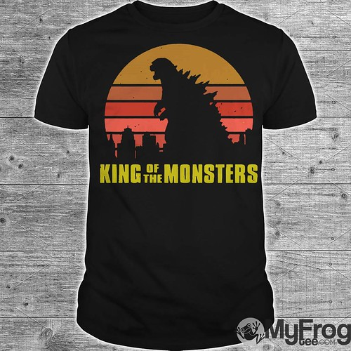 Godzilla King of the monsters vintage retro sunset shirt