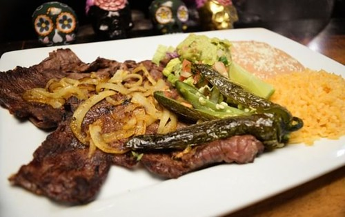 The Carne Asada from La Catrina Tacos & Tequila in downtown Mount Vernon is a foodies' dream come true. Succulent broiled skirt steak meets the delicious flavor of grilled onions wrapped up in a tortilla with guacamole, beans, and rice create a dish you'