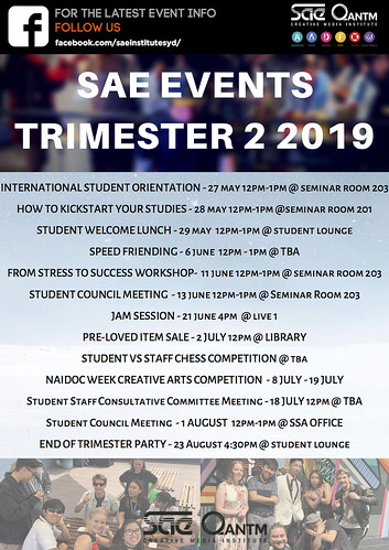 SAE EVENTS TRIMESTER 2 2019